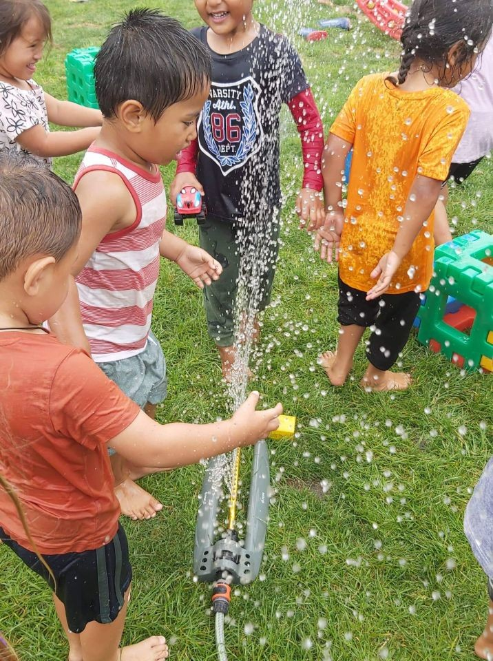 Water play and Sand Play our Summer Fun activities.